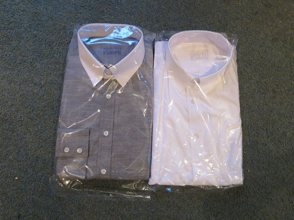 Two Smyth and Gibson shirts, size 16 inch collar, sold together or separately