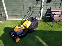 Mc Culloch self propelled petrol mower with large roller. VGC