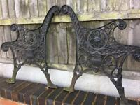 Vintage Cast Iron Lions Head Garden Bench Ends Can Deliver ( Very Heavy )