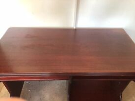 Mahogany computer desk and coffee table
