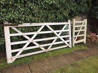 Wooden Gate - 2 parts