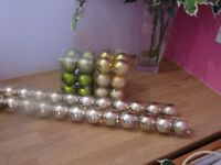 Selection of Christmas tree baubles