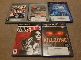 Pre-owned Playstation 2 PS2 5 game bundle joblot