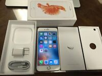 Reduced price, iPhone 6s plus 64GB Unlocked mint condition with Glass protector.