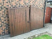 Hardwood Garden Gates - Pre Owned - 2400mm Wide 1800mm High
