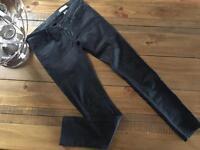 H&M black jean 30x32 super low/super slim