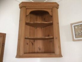 Solid Farmhouse Country Pine Wall Unit
