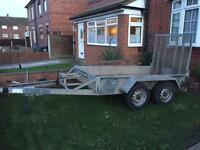 Indespension mini digger trailer, ifor Williams