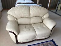 Cream leather 2 seater , from smoke and pet free home, will consider offers