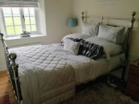 M&S Castello pewter / silver double metal bed