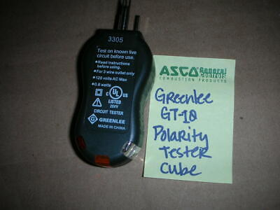 Greenlee Gt-10 Polarity Circuit 120vac Tester Cube Nos