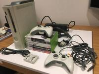 Microsoft Xbox games console (with 2 game controllers and 7 top games)
