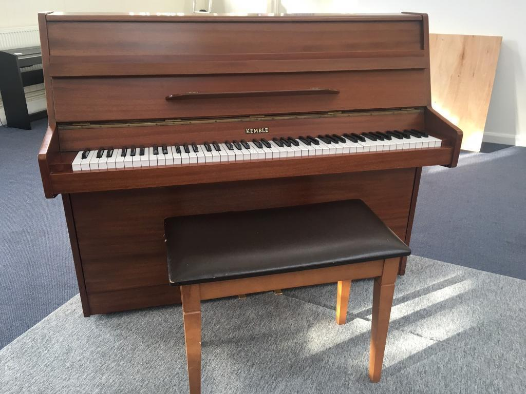 Kemble upright piano and stool