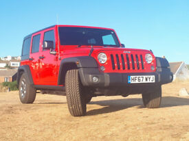 Very low mileage Jeep Wrangler Rubicon Unlimited with removable hard top