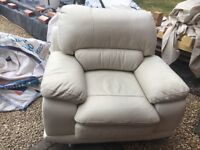 Cream leather chair