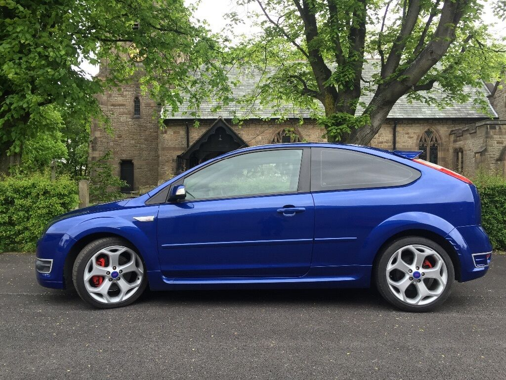 ford focus st st3 st 3 225 3 door 2007 07 low miles 2 5 turbo not st2 rs blue in preston. Black Bedroom Furniture Sets. Home Design Ideas