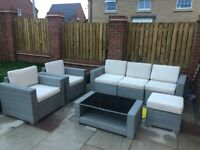 San Reno 6 seater rattan coffee set.