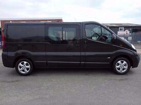 FINANCE ME!! NO VAT!! 2014 Vauxhall Vivaro Sportive Six seat crew van, Full Electric pack....