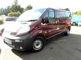 Vauxhall Vivaro Long wheel base, 1.9 6 Speed, Air-con, New MOT, New Gearbox and Clutch