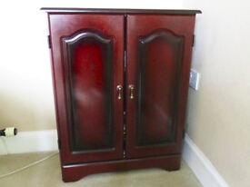 Storage Cabinet in Dark Wood Finish