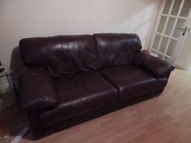 DARK BROWN 3 Seater SOFA and DARK BROWN 2 Seater SOFA in GREAT CONDITION