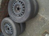 ASTRA x 4 steel wheels,,5 stud