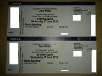 Jack White 2x tickets Eventim Apollo 27.06.18 June Stalls Standing