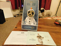 Oleg as Olaf from Frozen. Meerkat toy. Brand new in box with certificate etc