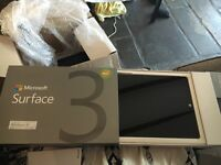 Microsoft surface 3 64gb with accessories