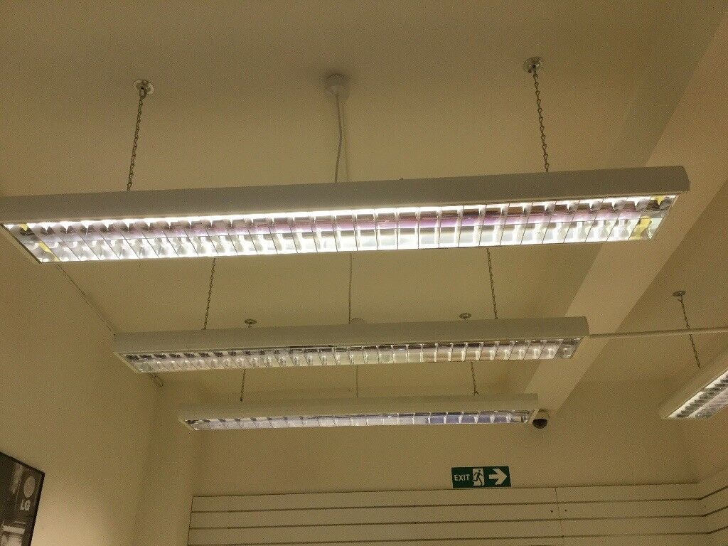 10 x 6ft Fluorescent Double Hanging Ceiling Lights | in Enniskillen ...
