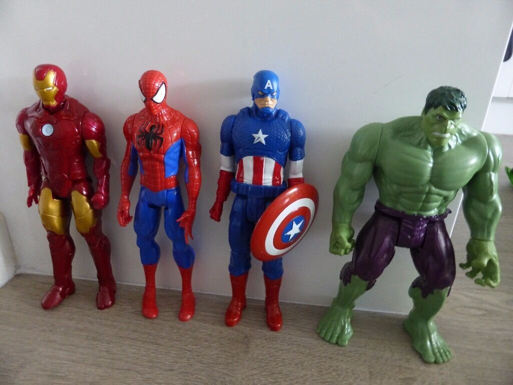Marvel heroes figure toy bundlein Ellon, AberdeenshireGumtree - set of 4 large Marvel figures all in great condition now outgrown collection from Ellon
