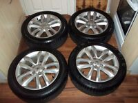 VAUXHALL VECTRA C SIGNUM SRI ALLOY WHEELS 17 INCH WITH GOOD TYRES