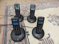 BT Graphite 2500 QUAD Digital Cordless Phones with Answering Machine