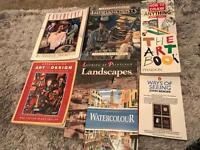 Variety of art books