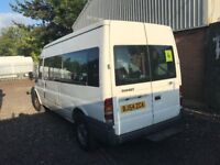 FORD TRANSIT T350 LWB MINIBUS , 54REG , 15 SEATER, FOR SALE