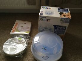 Philips avent microwave steriliser and warming plate never used.