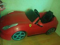 Feber Ferrari 6v kids battery ride on...