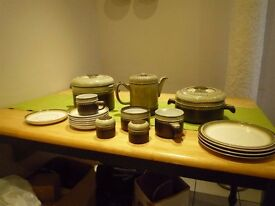 Denby Tableware - selected quality crockery incl casserole, coffee jug and condiment set