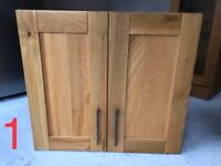 Kitchen cabinets - solid oak doors