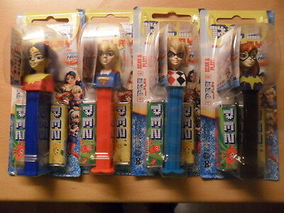 4 PEZ Spender DC Super Hero Girls Brand neu 2017