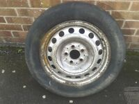 Mercedes Vito Sprinter Van Spare Wheel 5 Stud VW Steel Rim 195/65R16