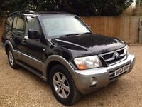 2003 MITSUBISHI SHOGUN DI-D ELEG-CE LWB A BLACK/SILVER bargain spares and repairs cheap export