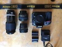 Nikon D800, 50mm 1.4G, 20mm 2.8D, 80-200mm 3.5