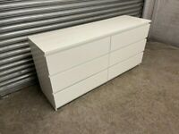 FREE DELIVERY IKEA MALM WHITE 6 DRAWER DRESSER CHEST GREAT CONDITION