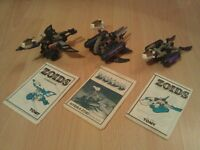 Zoids, Set of 3, Aquazoid, Hydrazoid & Cosmozoid with instructions - 80s