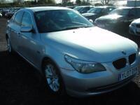 BMW 5 SERIES 2.0 520D SE 4d 161 BHP (silver) 2007