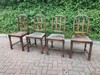Set Of four antique gothic dining chairs.