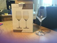 Darlington crystal wine glasses (pair)