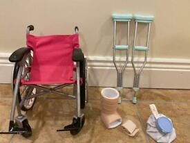 Our Generation Care Set with Foldable Wheelchair