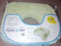 My Brest Friend Supportive Nursing Pillow For Twins 0-12 Months, Plus-Size, Light Green